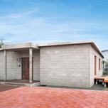 バリアフリーの丈夫な平屋の家